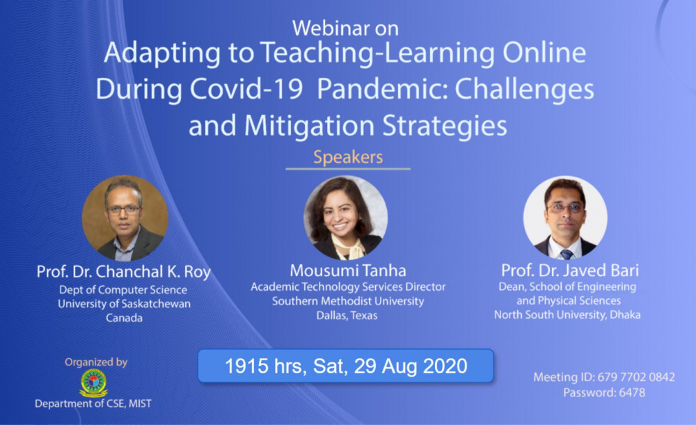Webinar on Adapting to Online Teaching-Learning by Dept of CSE